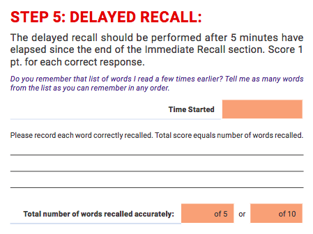 delayed-recall